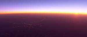 fs2020 Dawn from space